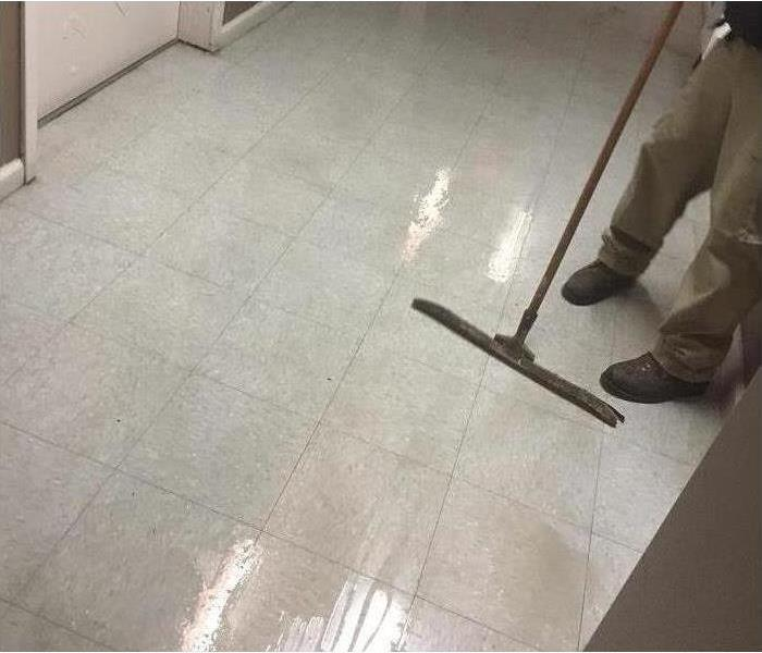 Flooded Room at a Business  After