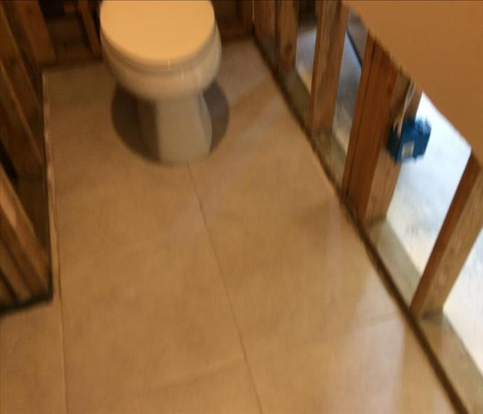 Bathroom with materials removed